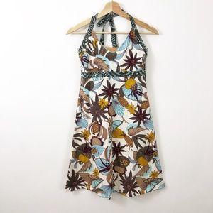Patagonia Floral Halter Organic Cotton Bra Dress
